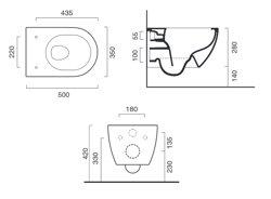 Catalano Sfera NF 50 - miska WC podwieszana bezkołnierzowa 50 cm