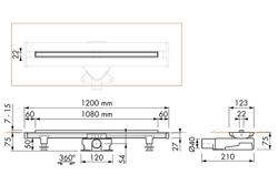 Easy Drain Flex - odpływ liniowy regulowany 50 - 120 cm