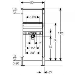 Geberit Duofix - element montażowy do umywalki dla baterii stojącej lub ściennej natynkowej, H112
