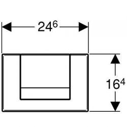 Geberit Tango - przycisk uruchamiający przedni do spłuczek UP300/UP320