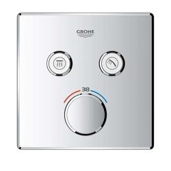 Grohe Grohtherm SmartControl - bateria podtynkowa do 2 wyjść wody, kwadratowa, chrom