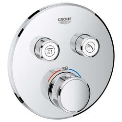 Grohe Grohtherm SmartControl - bateria podtynkowa do 2 wyjść wody, okrągła, chrom