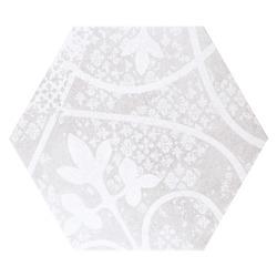 Quintessenza Alchimia ARS MIX bianco-grigio - płytka ceramiczna heksagonalna