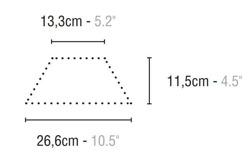 Quintessenza Alchimia Trapezi Nero - płytka ceramiczna trapezoidalna