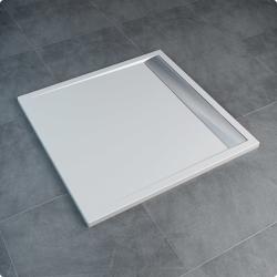 Sanswiss ILA WIQ - brodzik kwadratowy 80 x 80 cm, biały, pokrywa biała