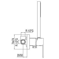 Tres Loft - zestaw prysznicowy z baterią podtynkową